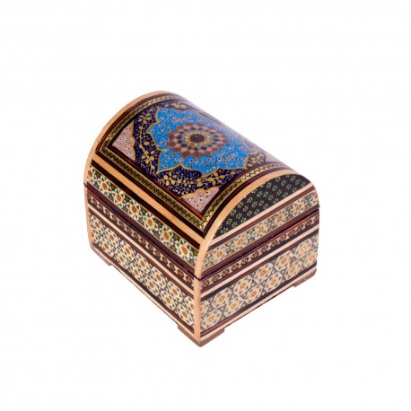 صندوقچه جواهرات خاتم کاری 11 سانتیمتری