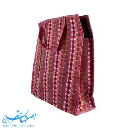 کیف سنتی طرح جاجیم 35 سانتیمتری