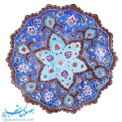 بشقاب میناکاری 30 سانتیمتری با نقاشی گل و بوته