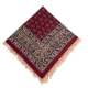 رومیزی قرمز قلمکار ممتاز مربعی یک متری