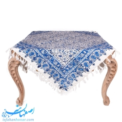 سفره قلمکار سنتی ایرانی آبی