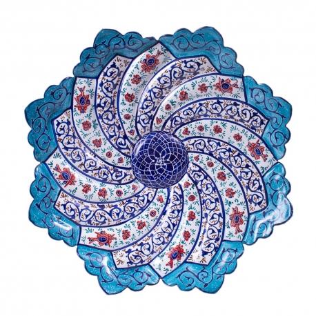 بشقاب میناکاری 16 سانتیمتری صنایع دستی اصفهان هنر