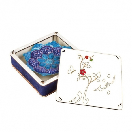 جعبه کادویی روز مادر .تولد حضرت فاطمه میناکاری مادر دوستت دارم