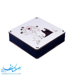 جعبه بشقاب مینای 16 سانتیمتری طرح عاشقانه
