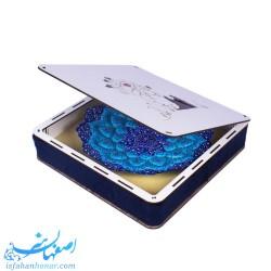 جعبه بشقاب مینای 25 سانتیمتری طرح عاشقانه