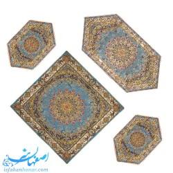 مجموعه چهارتایی رومیزی ترمه سنتی