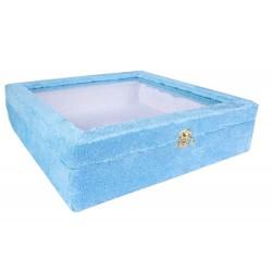 جعبه بشقاب میناکاری (آبی.30cm)